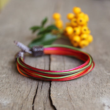 Multicolor African bracelet - Ethnic bracelet - Multistrand colorful bracelet - Gift for girlfriend