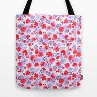 Floret (Red) Tote Bag by Jacqueline Maldonado