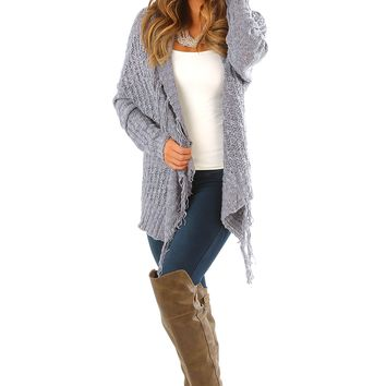 Better Off Alone Cardigan: Dusky Gray