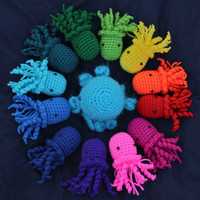 Two Jellyfish Amigurumi Plushes (stuffed animals) - Buy Two and Save
