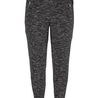 spacedye plus size jogger pants with zip pockets