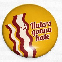 Bacon Haters Gonna Hate Pocket Mirror - Whimsical & Unique Gift Ideas for the Coolest Gift Givers