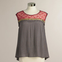 Multicolored Phoebe Lace Sequin Top - World Market