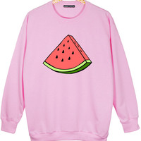 WATERMELON OVERSIZED SWEATER jumper t shirt top sweatshirt grunge retro fashion cute funny vtg swag tumblr hipster womens fruit fresh pink
