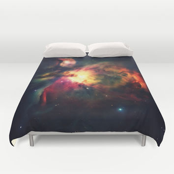 Orion Nebula Hauntingly Beautiful Duvet Cover by 2sweet4words Designs | Society6