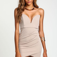 SWEETHEART PLUNGE WRAP DRESS