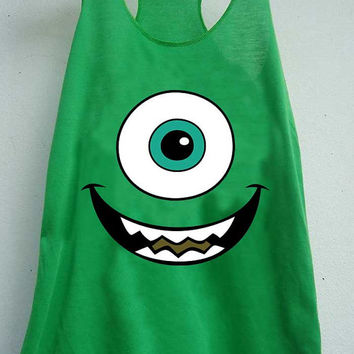 monsters inc art mike wazowski  for Tank Top Mens and Tank top Girls