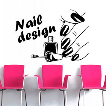 Wall Decal Decor Decals Art Nails Salon From