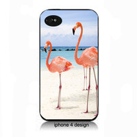 Unique Flamingo Design Iphone 4 case, Iphone case, Iphone 4s case, Iphone 4 cover, i phone case, i phone 4s case