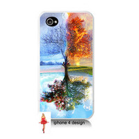 Unique Tree iphone 4 case, geekery, Iphone case, Iphone 4s case, Iphone 4 cover, i phone case, i phone 4s case