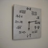 Another style math clock