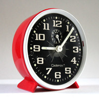 Vintage Retro Alarm Clock in Red by Cadence