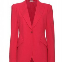 mytheresa.com -  Alexander McQueen - WOOL-CREPE BLAZER  - Luxury Fashion for Women / Designer clothing, shoes, bags