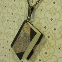 Miniature Map Book Necklace