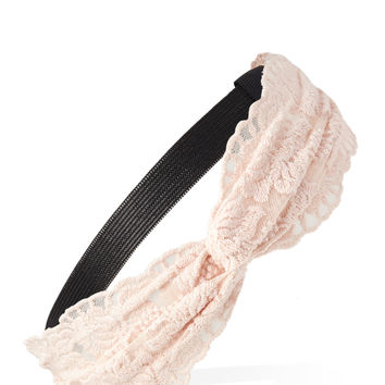 Floral Lace Knotted Headband