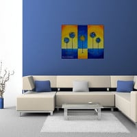Large Abstract Tree Painting, Lollipop Trees, Modern Art, Child Room, Lorax