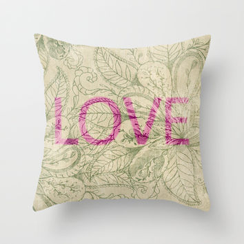 Love  Throw Pillow by rskinner1122