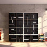 A Modular Typographical Bookcase by Saporiti | Colossal