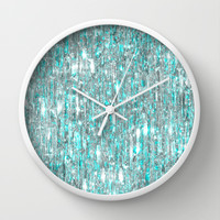 The Cold Never Bothered Me Anyway (Frozen Icicle Abstract) Wall Clock by soaring anchor designs ⚓ | Society6
