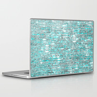 The Cold Never Bothered Me Anyway (Frozen Icicle Abstract) Laptop & iPad Skin by soaring anchor designs ⚓ | Society6