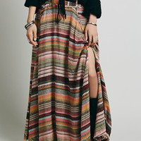 Free People Womens Tibetian Stripe Maxi - Wildflower Combo