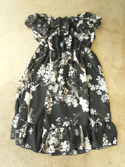 Ruffled Cherry Blossom Dress [2671] - $32.00 : Vintage Inspired Clothing &amp; Affordable Summer Dresses, deloom | Modern. Vintage. Crafted.