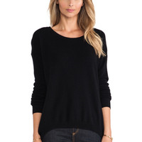 Luxe Cashmere Sweater in Black