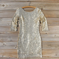 Dipped Gold Party Dress