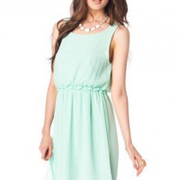 Thora Dress in Mint - ShopSosie.com