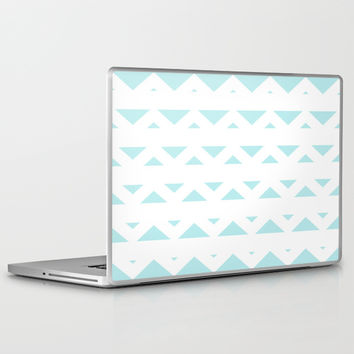 Turquoise Aqua Blue Tribal Triangles Laptop & iPad Skin by BeautifulHomes