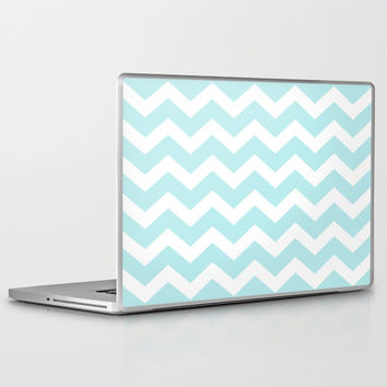 Turquoise Aqua Blue Chevron Laptop & iPad Skin by BeautifulHomes