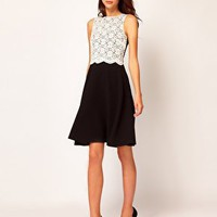 River Island Limited Edition Dolly Midi Skater Dress at asos.com