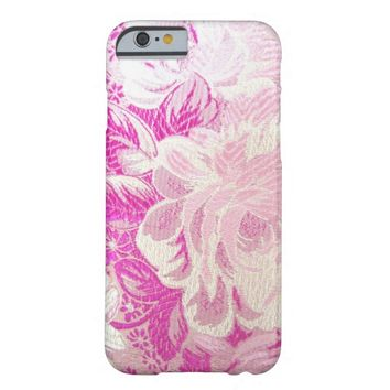 Pink and White Rose Floral iPhone 6 Case