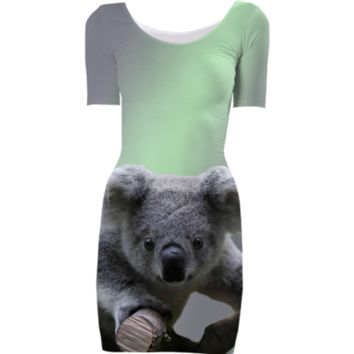 Koala Bodycon Dress created by ErikaKaisersot | Print All Over Me