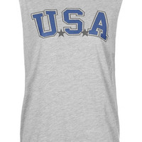 USA Sleeveless Hoodie by Project Social Tee - New In This Week - New In