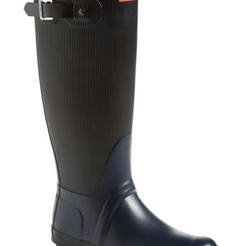 Hunter 'Original - Ribbed' Waterproof Rubber Boot (Women)