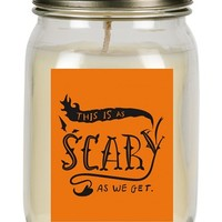 Primitives by Kathy 'As Scary As We Get' Mason Jar Candle
