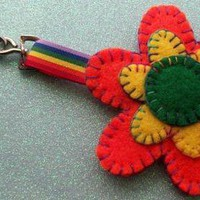 Hand Stitched Keyring/Bag Charm - F.. on Luulla