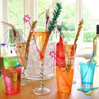 Cocktail Party Drinks Decoration Kit - Party Cups & Straws - Serving Partyware - Kids' Party