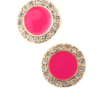 Mikaili Earrings - Pink - bellafusion
