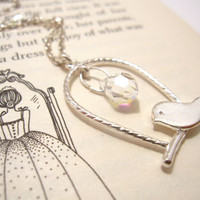 Bird on Swing Necklace - Cute Romantic Necklace FREE SHIPPING
