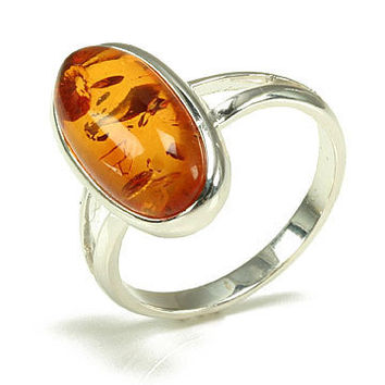 Wild Ivy Design | Sterling Silver Amber Ring Size 8.5 | Online Store Powered by Storenvy