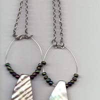 Wild Ivy Design | *NEW* Mother of Pearl and seed bead earrings | Online Store Powered by Storenvy