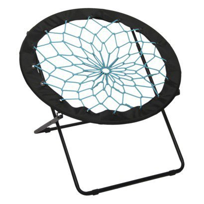 bungee chair black with teal from target