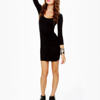 Hurley Atreyu Long Sleeve Black Dress