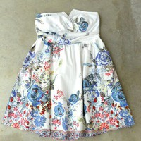 First Floral Garden Dress [2591] - $32.00 : Vintage Inspired Clothing & Affordable Summer Dresses, deloom | Modern. Vintage. Crafted.