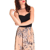 GYPSY WARRIOR - Floral Bustier Hi Low Dress