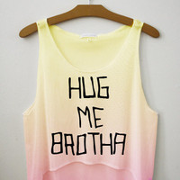 Hug Me Brotha Tie Dye Crop Top | fresh-tops.com
