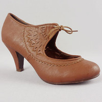 Angels and Arsenic Brown Heels | PLASTICLAND