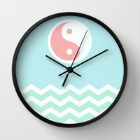 Sun Moon Lake Wall Clock by BeautifulHomes